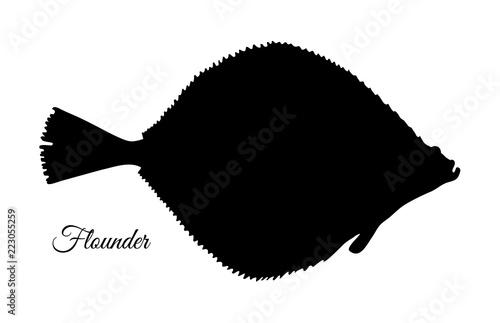 Fototapeta Silhouette of flounder.