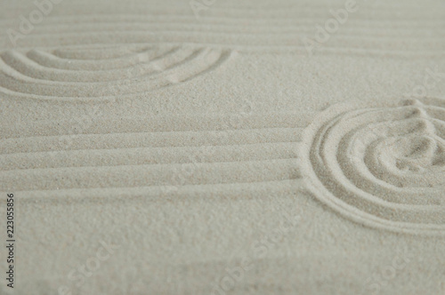 Recess Fitting Zen Zen drawing on white sand. Concept of harmony, balance and meditation, spa, massage, relax