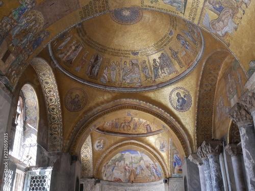 Foto Venezia – mosaici nella basilica di San Marco in piazza San Marco
