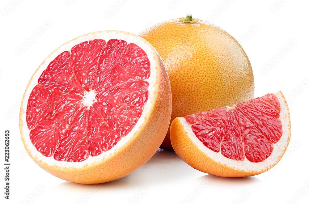 Fotografie, Obraz Whole and sliced grapefruit