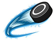 Hockey Puck With An Effect. Ve...