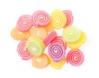 candies Jelly sweet isolated on white background