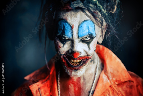 Fotografie, Obraz  creepy scary clown