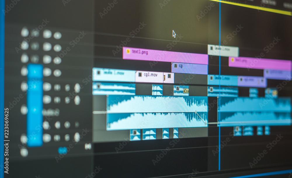 Fototapeta video editting timeline