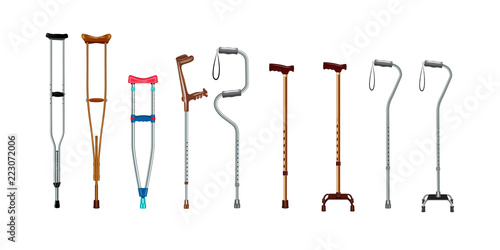 Papel de parede Crutches icon set