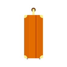 Side Of Travel Bag Icon. Flat Illustration Of Side Of Travel Bag Vector Icon For Web Design