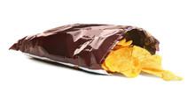 Bag With Crispy Potato Chips O...