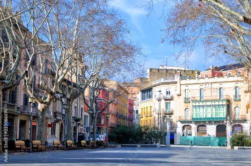 Figueres Plaza in Spain Wallpaper Mural