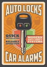 Car Alarm Security, Auto Lock Key