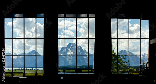 Valokuvatapetti Jackson Hole Grand Teton Mountain