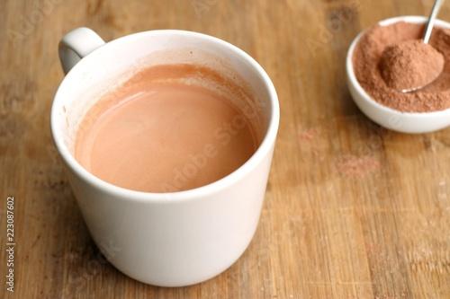 Foto op Plexiglas Chocolade instant chocolate with powder