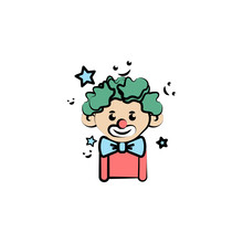 Clown Colored Icon. Element Of...