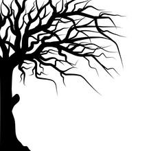 Old Tree Halloween Silhouette