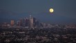 4K Time Lapse of A Full Moonrise In A Clear Sky Over Los Angeles California