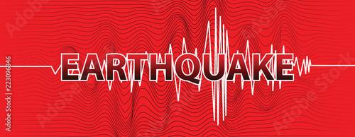 Leinwand Poster earthquake banner vector