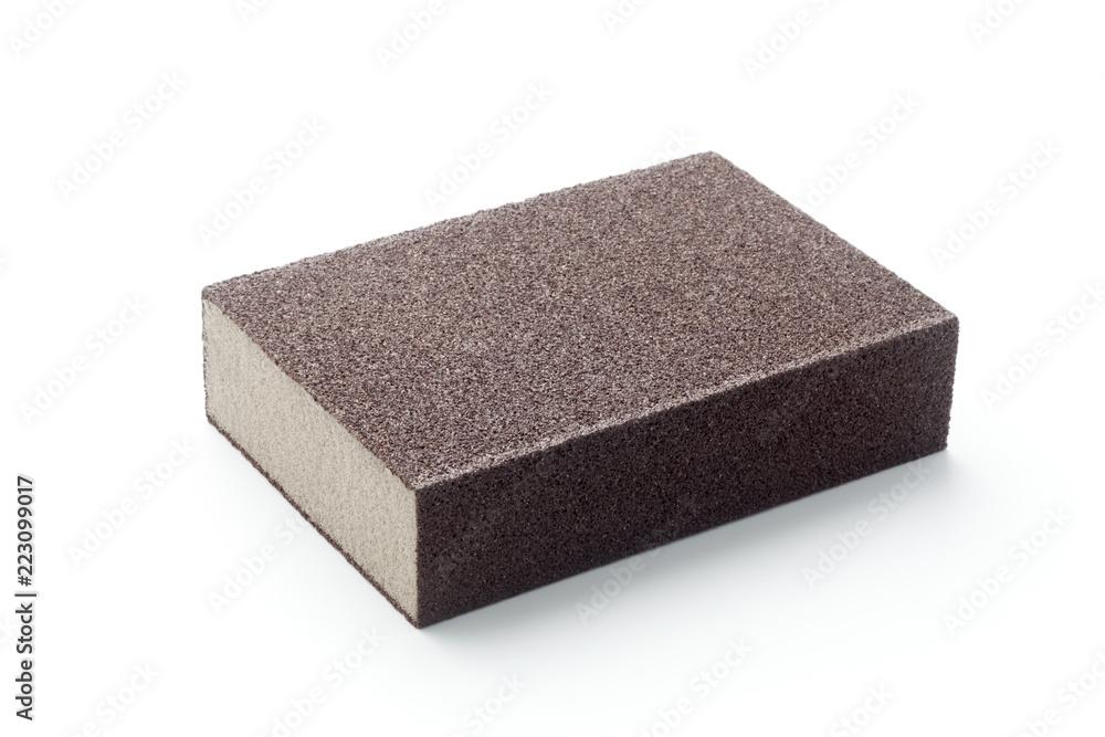 Fototapeta Emery sponge isolated on white background