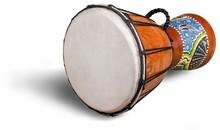 Drum African Drum Jembe Wood-carved Drum Drumhead Leather