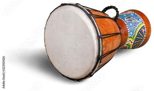 Foto Drum african drum jembe wood-carved drum drumhead leather