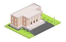 Museum Building Isometric Vect...