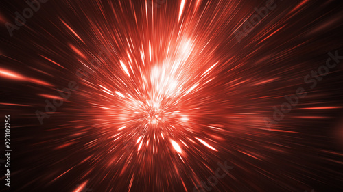 Abstract holiday background with blurred rays and sparkles Wallpaper Mural