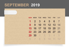 September 2019 - Monthly Calen...