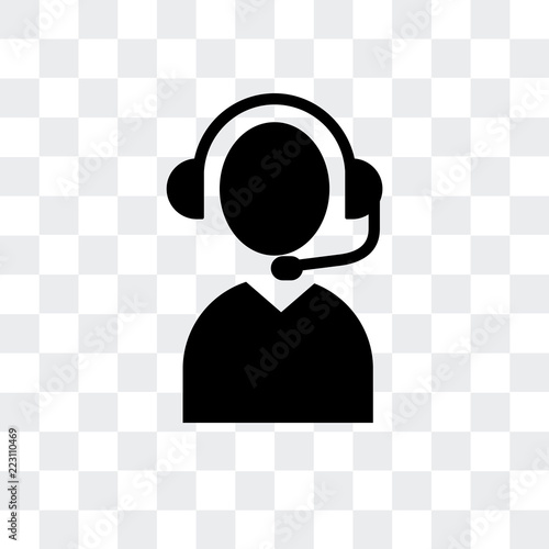 telemarketer icon isolated on transparent background. Modern and editable telemarketer icon. Simple icons vector illustration.