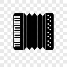 Accordion Icons Isolated On Transparent Background. Modern And Editable Accordion Icon. Simple Icon Vector Illustration.