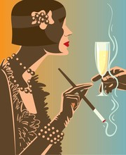 Drinking Champagne / Woman A G...