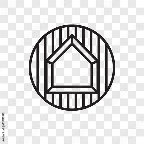 Fotografie, Obraz  Base vector icon isolated on transparent background, Base logo design