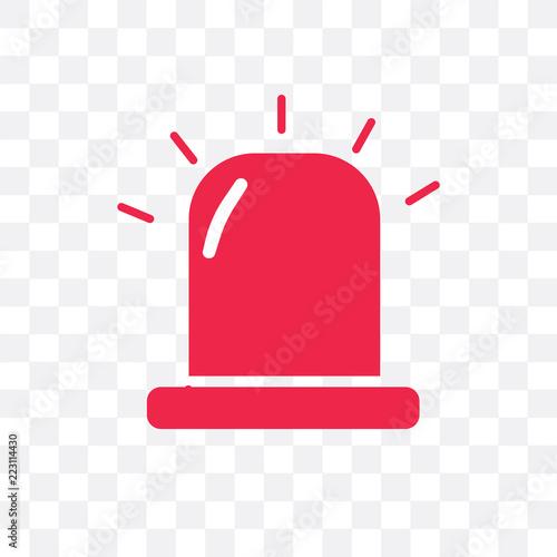 Obraz na plátně  alarm icon isolated on transparent background