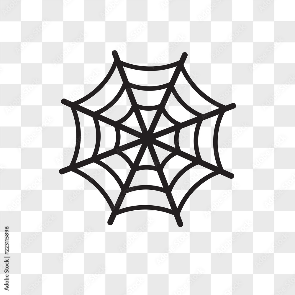Fotografija Poster Spider web vector icon isolated on transparent