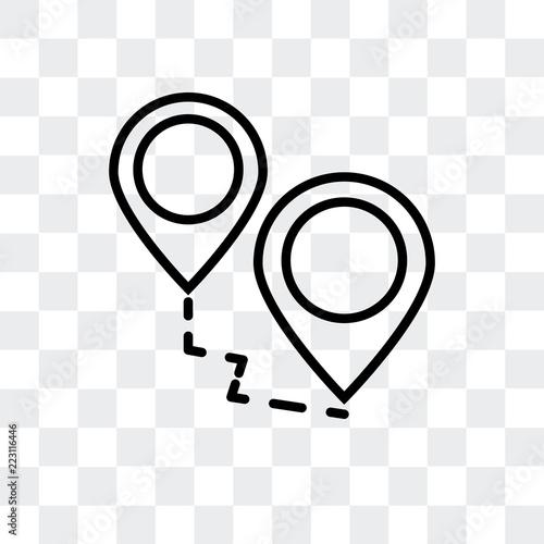 Foto  Destination vector icon isolated on transparent background, Destination logo des