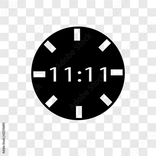 digital clock icons isolated on transparent background