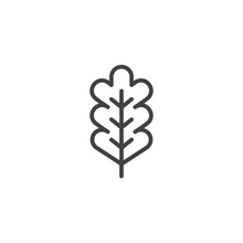 Oak Leaf Outline Icon. Linear ...
