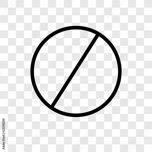 Fototapeta No entry vector icon isolated on transparent background, No entry logo design obraz na płótnie