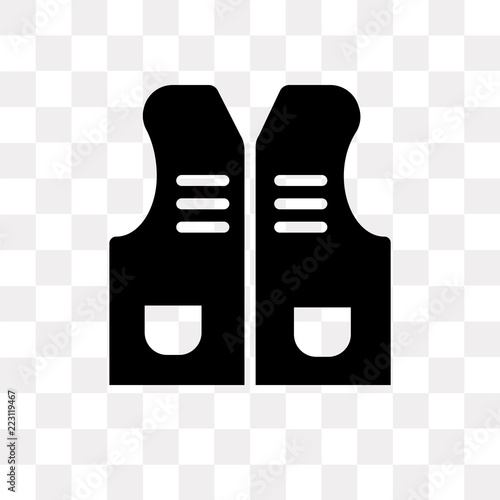 Fotografía  Vest vector icon isolated on transparent background, Vest logo design