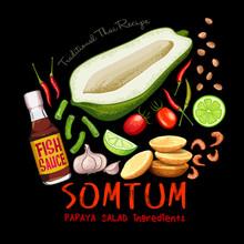 Traditional Thai Recipe Somtum...