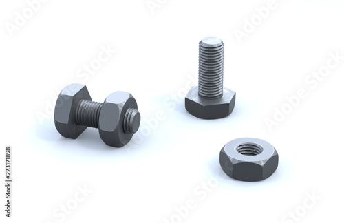 Two Bolts and Two Nuts