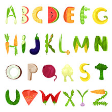 Veggie English Alphabet Letter...