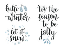 Winter Season And Christmas Le...
