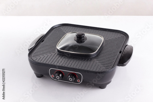 non stick electric grill stove isolated