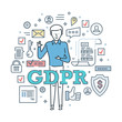 General Data Protection Regulation. GDPR. Guaranteed safe protection and encryption.
