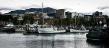 Victoria Dock In Hobart Port