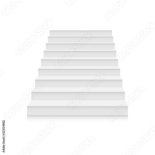 white stairs template set interior staircases in cartoon style