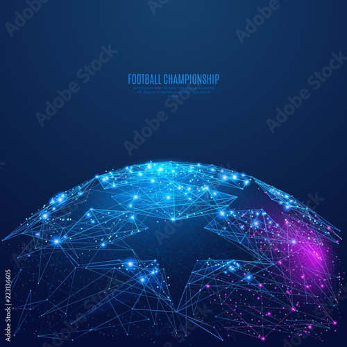 Canvas Print Football championship background