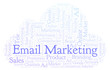 Word cloud with text Email Marketing.