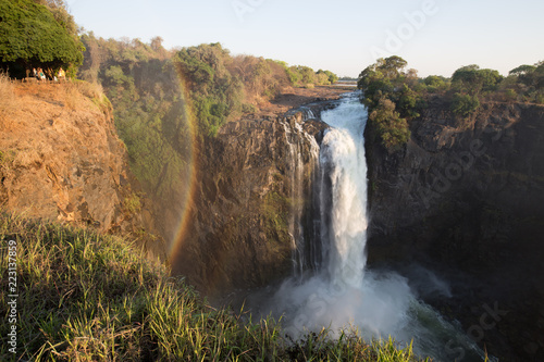 Garden Poster Forest river african waterfall in the mountain