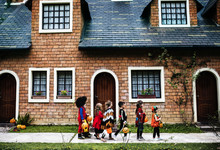 Young Kids Trick Or Treating D...
