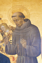 Painting In Pienza Cathedral - Saint Francis