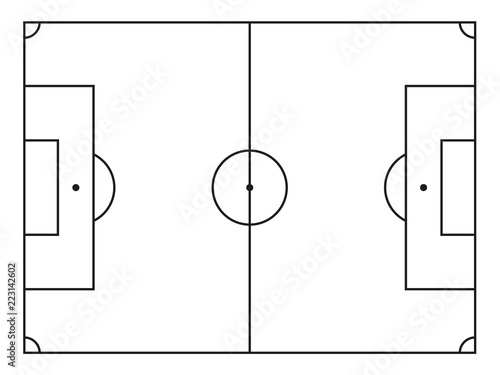 Obraz Vektor Fußballfeld - fototapety do salonu